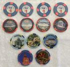 Princess Cruise Lines Casino Chip Collection 13 Chips 7 Ships W 3 Inaugural