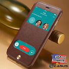 iPhone 8  iPhone 7 Plus Leather Window View Wallet Kick stand Flip Case Cover