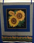 Four 17 1 2  Sunflower squares for pillows or other crafts A VIP Print