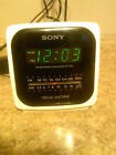 Vintage Retro Sony Dream Machine White Cube ICF-C122 AM/FM Alarm Clock Radio