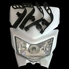 White Headlight Head Lamp Fairing Motorcycle MX DIRT Bike off Road Dual Sport