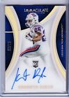 KENNETH DIXON 2016 IMMACULATE COLLECTION RC AUTOGRAPHED #'d 23 25 Ravens