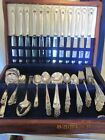 Vintage ROGERS ETERNALLY YOURS 101 pc set silver plate flatware service for 12 +
