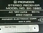 MONSTER 270 WPC 80 LB. RECEIVER PIONEER SX-1980