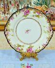 Malmaison Germany Antique (1872~1898) Pink Rose Two Handled Cake Plate 10 1/4