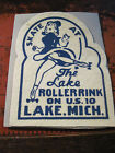RARE 5 FELT PATCH FROM THE LAKE ROLLER RINK IN LAKE MICHIGAN