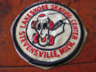 RARE 3 EMBROIDERED PATCH FROM LAKESMORE SKATING CENTER STEVENSVILLE MICHIGAN