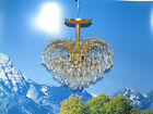 Vintage Waterfall Chandelier Light Lamp Ceiling Fixture w/ Hanging Glass Prisms