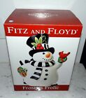 FITZ & FLOYD FROSTY'S FROLIC COOKIE JAR NEW IN BOX 2010