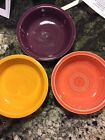 fiesta Fiestaware marigold persimmon and Heather  cereal bowls set of 3.