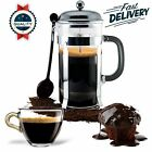 French Press Coffee Maker Leaf Tea Carafe Stainless Steel Filter 27 oz Bodum Cup