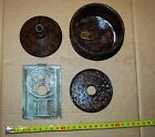 WW2 German carbide lamp Bunker Lamp Battlefield Reliclot of parts 4pc