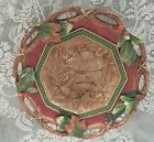 FITZ AND FLOYD CHRISTMAS LODGE SERVING BOWL / CENTERPIECE NEW WITH BOX