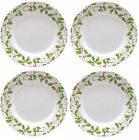 NEW! Set of 4 Corelle Evergreen Rose Christmas Holiday 10 3/4