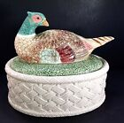 Fitz & Floyd Pheasant Autumn Leaves 2.5 Quart Lidded Casserole Dish Canister ��