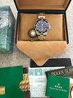 Rolex Submariner Blue Watch 18K and Stainless Bracelet-all original boxes, tags