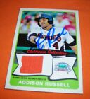 2014 Topps Heritage minor league signed autograph jersery Addison Russell card