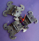 3 Antique Gothic Rustic Hinges for Repurpose projects - 2 7/8