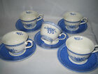 Churchill Out of the Blue Cups & Saucer 10-pc set England Excellent Pristine