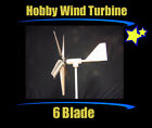 HOBBY WIND TURBINE 6 BLADES BATTERY CHARGER 12 VOLT DC