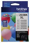 Brother Printer LC203BK High Yield Ink Cartridge Black New Free Shipping