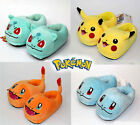Pokemon Bulbasaur Squirtle Pikachu Plush Animal Doll Thick Cotton Slippers 11
