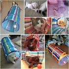 Colorful Cat Tunnel Toys Folding Pet Fun Tunnel Kitten Rabbit Play With Ball US