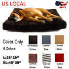 Pet Dog Bed Cover Only Replacement Pup Soft Cushion Washable Mat Slipcover
