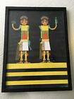 Vtg Mid Century Hollywood Regency Native American Navajo Print Artwork Art