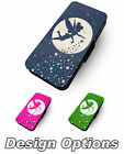 Tinkerbell . Moon Shadow Printed Faux Leather Flip Phone Cover Case