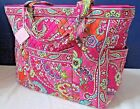 NWT Vera Bradley Get Carried Away Tote Pink Swirls