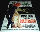 1964 Goldfinger ORIGINAL SPAIN POSTER 007 James Bond R78 Great Unique Artwork!