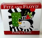 Fitz and Floyd Christmas Frosty's Frolic Snack Plate & Spreader With Box