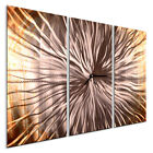 Metal Wall Clock Approaching Sun I Abstract Contemporary Home Dcor by Ash Carl