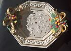 Fitz & Floyd Classics Christmas Wreath Large PLATE Bowl Discontinued Rare New