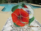 SYDENSTRICKER GALLERIES VINTAGE FUSED ART GLASS 1974 HIBISCUS PLATE MINT RETIRED