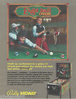 EIGHT BALL CHAMP - 1985, 2 sided Pinball Pool Flyer by Bally Midway