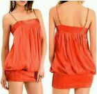 GUESS BY MARCIANO 96 SILK ORANGE BUBBLE DRESS SIZE S