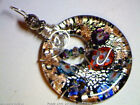 HANDMADE 925 STERLING SILVER WIRE MURANO STYLE GLASS PENDANT