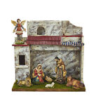 KURT S ADLER 11 POLYRESIN 8 PIECE MUSICAL NATIVITY SET w STABLE