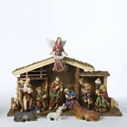 KURT S ADLER 12 PIECE NATIVITY SET w 11 RESIN FIGURINES 15 6