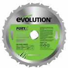 Multipurpose Blade For Electric Mitre Saw 210 mm Evolution Fury New Durability