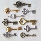new old look antique keys 90 victorian charm skeleton gold silver bronze wedding