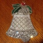 Vintage Christmas Beaded and Sequined Bell Ornament Estate Holiday Collectible