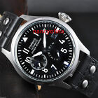 Parnis 47mm Big pilot Dial Power Reserve Luminous Seagull Automatic Date Watch