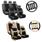 Multicolor Car Seat Covers Set for Auto w/Steering Wheel/Belt Pad/4Head Rest