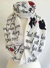 Romeo And Juliet Scarf Shakespeare scarf Shakespeare Gift Literature Gift
