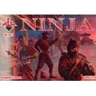 Ninja Soldiers Red Box Figures (48) 1/72 Scale Plastic Toy Soldiers #72011