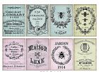 8 Vintage French Ephemera Shabby Chic Hang Tags Scrapbooking Journaling Cards