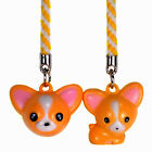 DEER BELL CHARM Set 2 Cell Phone Strap Chihuahua NEW
